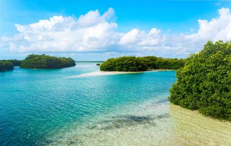 Quintana Roo, Mexico, the Sian Kaan lagoon reserve Stock Photo