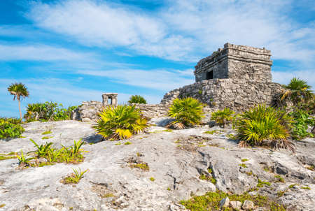 Tulum, Mexico, the Wind Temple of the Mayan city archaeological site
