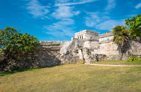 Tulum, Mexico, the Castle (El Castillo) in the Mayan city archaeological site