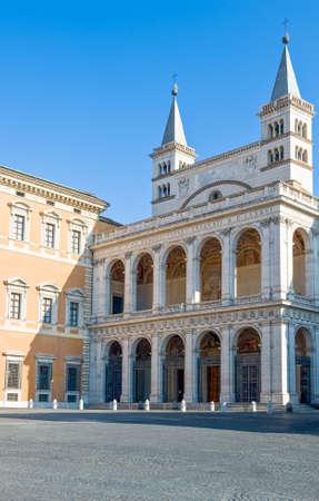 Rome,  S.Giovanni in Laterano Basilica, the north facade with the benediction loggia