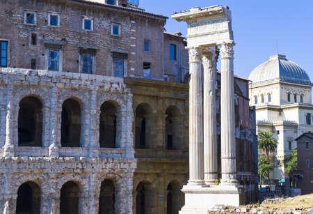 Rome,  the Teatro Marcello Stock Photo