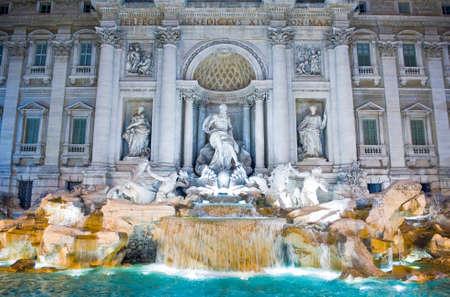 Rome,  the Fontana di Trevi Stock Photo