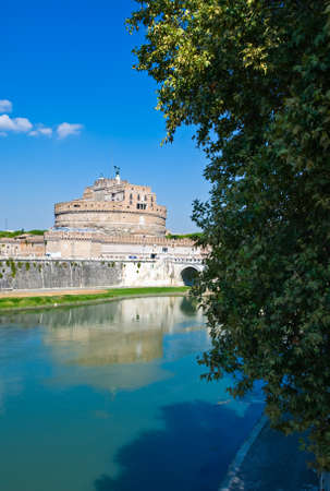 castel: Rome,  thef Castel S.Angelo seen from the Tevere river vank Stock Photo