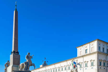 Italy,Rome, the Quirinale Palace and the Obelisk in the square