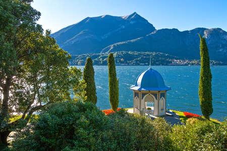 Bellagio, Italy - August 31, 2010:  The Villa Melzi garden on the Como lake Editorial