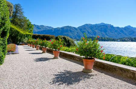 イタリア、トレメッツォ、コモ湖の眺め、