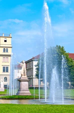 Italy,Turin, Via Dei Mille gardens, the monumental group of Daniele Manin