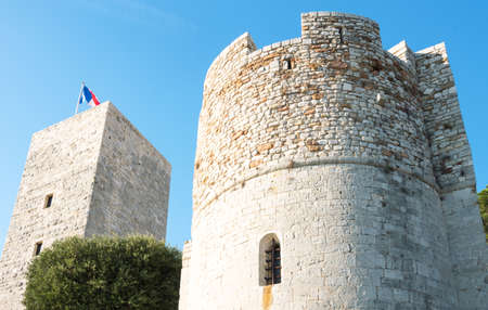 Cannes, France - November 21, 2017: The old Castle (La Castre) on the hill of Le Sequet old town