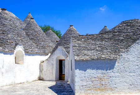 Alberobello, Italy, the Trulli, rural dwellings of medieval origin made with dry stones and conical roof