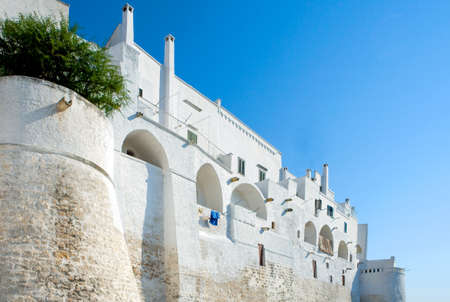 Italy, Ostuni, the white  medieval bastions