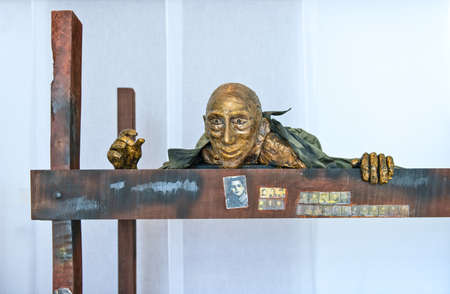 Santa Maria Al Bagno, Italy - April 16, 2010:  A sculpture in the museum of holocaust memory Editorial