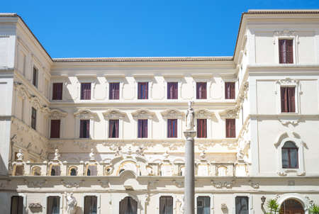 Bari, Italy, the building of the Seminary adjacent to the St Sabino Cathedral Stockfoto