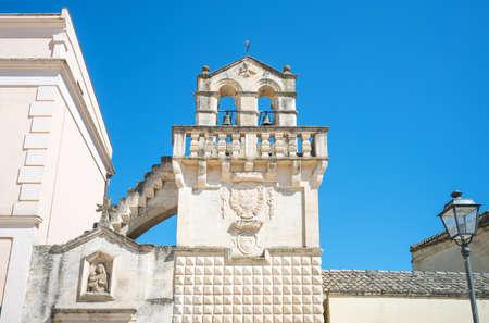 Matera, Italy, V. Veneto square, the facade of the Mater Domini church Stock Photo - 98547266