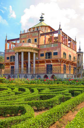 Italy, Sicily, Palermo, the Chinese building (the Palazzina Cinese) in the outskirts of the city
