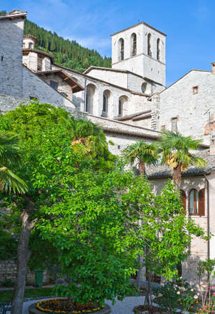 Italy,Umbria,Gubbio,the bell tower of the Cathedral Stockfoto