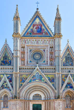 Italy,Umbria,Orvieto,detail of the facade of the Cathedral Stock Photo