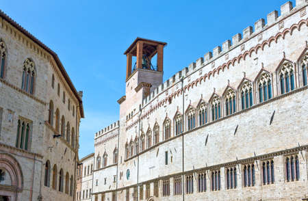 Italy,Umbria,Perugia,the  Dei Priori palace Editorial