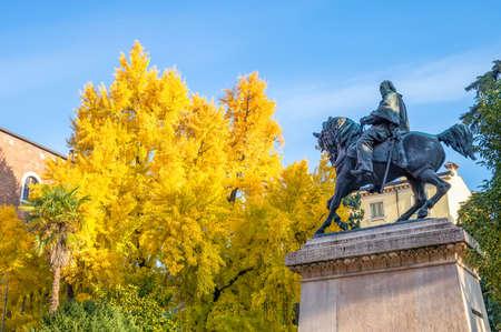 Italy, Verona, the Garibaldi monument in Viviani square Stock Photo