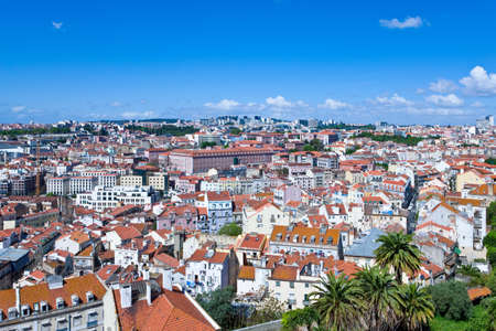 Lisbon, Portugal, panoramic view on the city fro the Da Graca belvedere Stock Photo