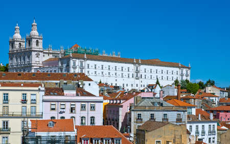 Lisbon, Portugal, panoramic view on the city from the S.Luzia belvedere
