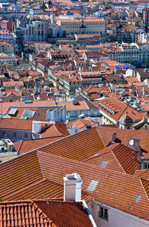 Lisbon, Portugal, view on the city from S.Jorge castle belvedere