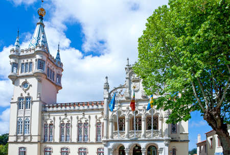 Portugal,Sintra,the facade of the town hall