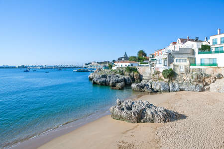 Portugal, Cascais, view on the sea from the fisherman village Stock Photo
