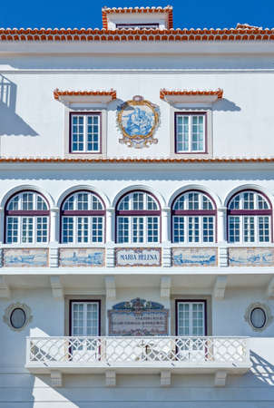 Portugal, Cascais, the facade of a traditional house in the old town