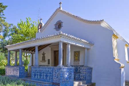 Portugal, Cascais,the S.Sebastian chappel near the Conde Castro Guimaraes museum