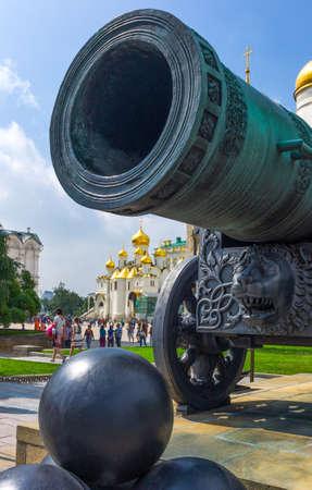 Moscow, Russia - July 16, 2013:  Kremlin, the Tsar Pushka Cannon Editorial