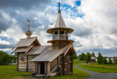 Russia, Karelia region, Kishi island, , the wooden Chapel of Archangel Michael