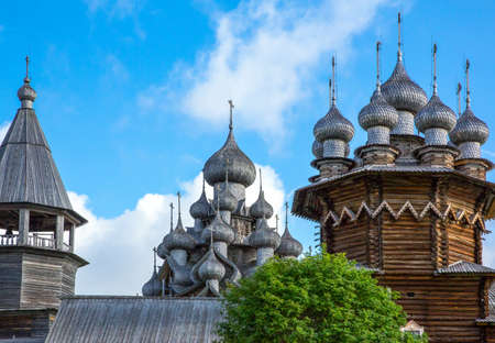 Russia, Karelia region, Kishi island, the Trasfiguration and Assumption  wooden churchs