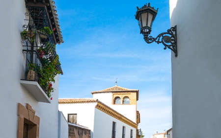 Spain, Andalusia, Ronda, traditional houses in the old town center