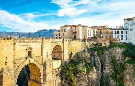 Ronda,  Spain - December 11, 2014: The  Puente Nuevo (New Bridge) over the El Tajo gorge