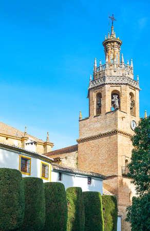 Spain, Andalusia, Ronda, the Santa Maria la Mayor church Editorial
