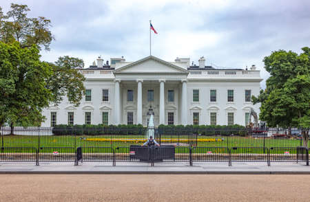 Washington, USA - October 13, 2017: Security   installations and vigilance in protection of the White House