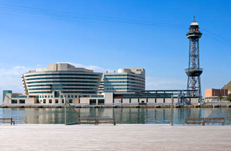 Spain, Barcelona, the World Trade Center in the old harbor Editorial