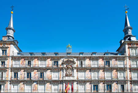Spain, Madrid, the ancient palaces of Plaza Mayor Editorial