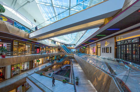 Istambul , Turkey - February 19, 2013: The inside modern architectures of the Buyaka shopping center