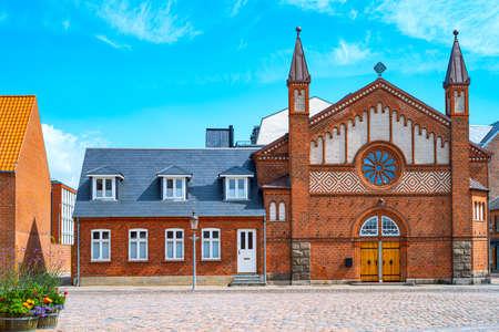 Denmark, Jutland peninsula, Esbjerg,the parish church in Kirkegade street Stock Photo
