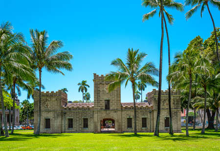 Honolulu, Hawaii , Historic Center, the Iolani Barrack castle