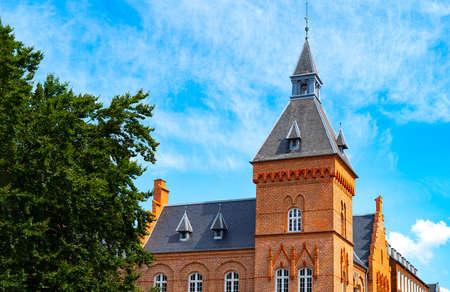 Denmark, Jutland peninsula, Esbjerg, Torvet square,  the tower of the old Town Hall Stock Photo - 127628267