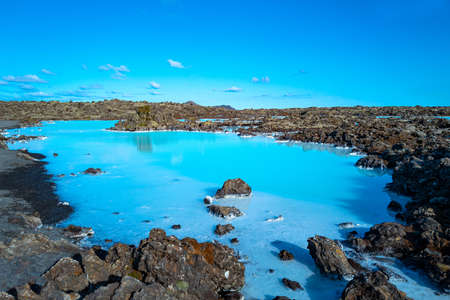Grindavic, Iceland, view of the famous Blue Lagoon geothermal area
