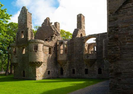 Kirkwall, Orkney, Scoland, the ruins of the Bishop's and Earl's palace Stock Photo