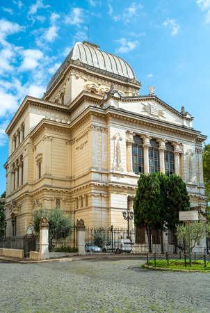 Italy, Rome, Tiberina Island, the Synagogue Tempio Maggiore di Roma