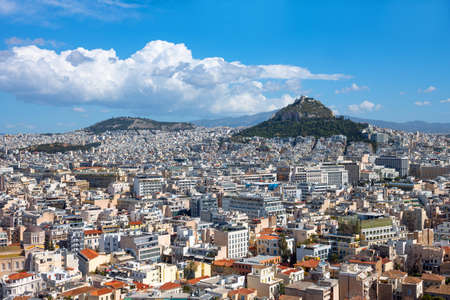 Greece, Athens, panorama of the city seen from the Acropolis Standard-Bild