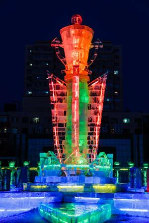 February 2013 - Harbin, China - Ice Lantern Festival in Zhaolin Park Editorial