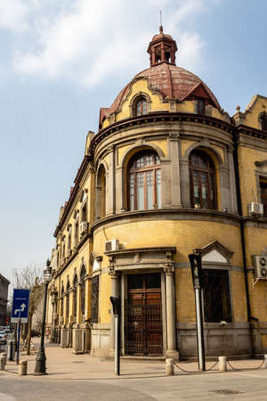 European style building in the city center of Tianjin, China 免版税图像