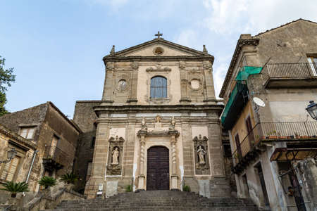 Basilica di Santa Maria della Catena in Castiglione di Sicilia, an old village not far from Taormina, Sicily, which in 2017 was voted one of the 5 most beautiful villages in Italy