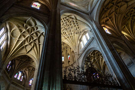 Sept 2018 - Segovia, Castilla y Leon, Spain - Segovia Cathedral interiors. It was the last gothic style cathedral built in Spain, during the sixteenth century.